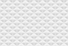 Naadloze patroon witte gewatteerde stof royalty-vrije illustratie