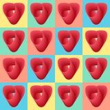 Naadloze patroonachtergrond met harten, kleurrijke illustratie vector illustratie