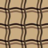 Naadloze patroonachtergrond met multi-colored golvende lijnen royalty-vrije illustratie