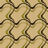 Naadloze patroonachtergrond met multi-colored golvende lijnen stock illustratie