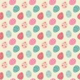 Naadloze patroonachtergrond met pastelkleur geschilderde eieren stock illustratie
