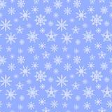 Naadloze patroonachtergrond met sneeuwvlokken blauw substraat Royalty-vrije Stock Afbeeldingen