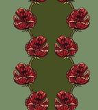 Naadloze patroonachtergrond met tulpen Stock Foto's