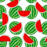 Naadloze Patroonachtergrond van watermeloen Stock Afbeeldingen