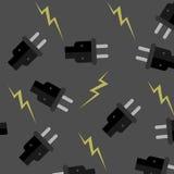 Naadloze patroonelektriciteit Stock Foto