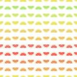 Naadloze patroongrapefruit als achtergrond, citroen, kalk, sinaasappel Stock Fotografie