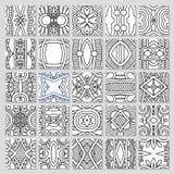25 naadloze patrooninzameling Stock Afbeeldingen