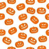 Naadloze patroonjack-o'-lantern voor Halloween Stock Foto's