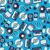 Naadloze patroonmuziek Stock Fotografie