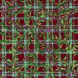 Naadloze patroonpaarden Stock Afbeelding