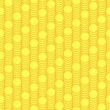 Naadloze patroonschalen van gouden muntstukken. Stock Illustratie