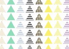 Naadloze patroontegel De uitstekende decoratieve elementen overhandigen getrokken achtergrond Perfectioneer voor druk op stof, af royalty-vrije illustratie