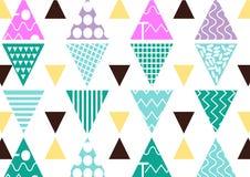 Naadloze patroontegel Uitstekende decoratieve elementen kleurrijke achtergrond Perfectioneer voor druk op stof, affiche of docume vector illustratie
