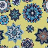 Naadloze patroontextuur Indische, Arabische, Turkse stijlelementen royalty-vrije stock afbeeldingen