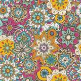Naadloze patroontextuur Indische, Arabische, Turkse stijlelementen royalty-vrije stock afbeelding
