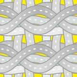 Naadloze patroonwegen Stock Afbeelding