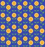 Naadloze patroonzonnebloemen. Royalty-vrije Stock Afbeeldingen
