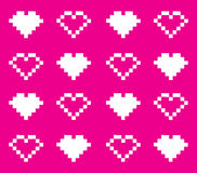 Naadloze Pixelhearts Royalty-vrije Stock Afbeelding