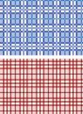 Naadloze plaid blauwe en rode patronen Stock Foto