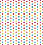 Naadloze Polka Dot Background, Kleurrijk Patroon voor Textiel Stock Afbeelding