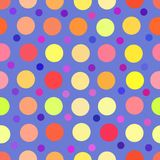 Naadloze Polka Dot Fashion Print vector illustratie