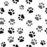 Naadloze pootdruk Sporen van Cat Textile Pattern Het naadloze patroon van de kattenvoetafdruk Naadloze vector EPS10 royalty-vrije illustratie