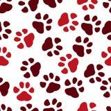 Naadloze pootdruk Sporen van Cat Textile Pattern Het naadloze patroon van de kattenvoetafdruk Naadloze vector stock illustratie