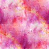 Naadloze purple kunst van de achtergrondtextuurwaterverf Stock Fotografie
