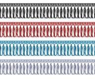 Naadloze rand met de rand van de leeswijzerdoek Kledingstuk vectorelementen vector illustratie