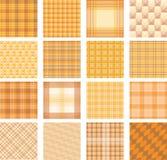 Naadloze reeks als achtergrond van plaidpatroon, illustratie stock afbeeldingen