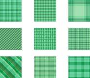 Naadloze reeks als achtergrond van plaidpatroon, illustratie stock afbeelding