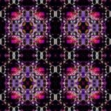 Naadloze regelmatige ingewikkelde patroon zwarte purple Stock Fotografie