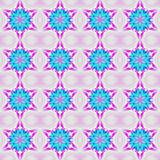 Naadloze regelmatige turkooise blauwe violette purple van het sterrenpatroon Stock Afbeelding