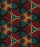 Naadloze Regenboogspiralen Geometrisch patroon Geschikt voor textiel, stof en verpakking Stock Afbeelding