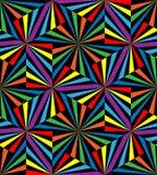 Naadloze Regenboogstrepen Geometrisch patroon Geschikt voor textiel, stof en verpakking Stock Afbeeldingen