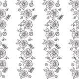 Naadloze retro bloemenachtergrond Stock Illustratie