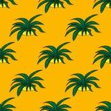 Naadloze retro cactusinstallaties voor het van de achtergrond huisillustratie patroon in vector Royalty-vrije Stock Foto's