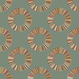 Naadloze retro cirkelornamentillustratie Royalty-vrije Stock Foto's