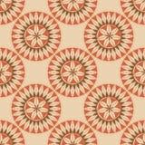 Naadloze retro cirkelornamentillustratie Stock Foto's