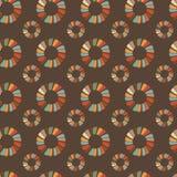 Naadloze retro cirkelornamentillustratie Royalty-vrije Stock Afbeelding