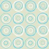 Naadloze retro cirkels Royalty-vrije Stock Foto
