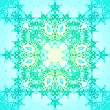 Naadloze retro ornament turkooise blauwe geelgroen Royalty-vrije Stock Fotografie