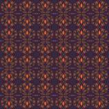 Naadloze retro patroonsinaasappel en purple royalty-vrije illustratie
