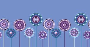 Naadloze retro violette bloemengrens Royalty-vrije Stock Afbeeldingen