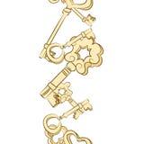 Naadloze rij van uitstekende sleutels vector illustratie