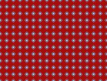 Naadloze Rode Achtergrond met Blauwe Sneeuwvlokken vector illustratie