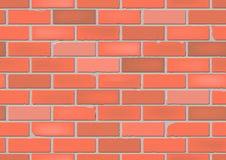 Naadloze Rode Bakstenen muur Stock Fotografie