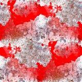 Naadloze rode grungeachtergrond van de muurtextuur stock foto