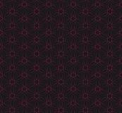 Naadloze rode het patroonachtergrond van de wijnstoklijn Vector Illustratie