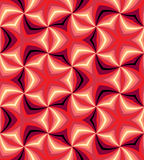 Naadloze Rode Spiralen Geometrisch patroon Geschikt voor textiel, stof en verpakking Royalty-vrije Stock Foto